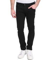 Diesel Sleenker Five-Pocket Black Jeans black - Lyst