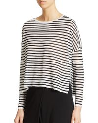 Eileen Fisher Striped Long Sleeve Sweater - Lyst