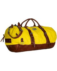 Polo Ralph Lauren Leathertrimmed Nylon Duffel Bag - Lyst