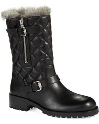 Vince Camuto Signature - Ronena Rabbit Fur-Lined Boots - Lyst