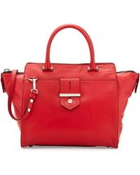 Milly Bradley Leather Tote Bag - Lyst