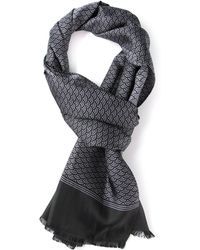 Saint Laurent Printed Scarf - Lyst