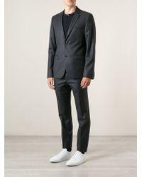 Calvin Klein Gray Pinstripe Suit - Lyst