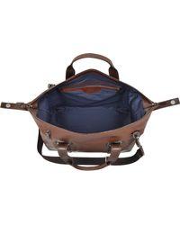 The Bridge - Pininfarina Legacy Marrone Leather Travel Bag - Lyst