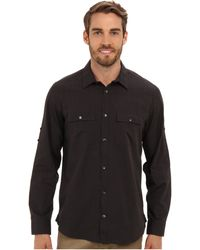 Calvin Klein Yd End On End Slub Rollup Sleeve Shirt - Lyst