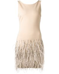 Haute Hippie Embellished Feather Dress - Lyst