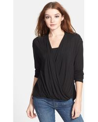 Ella Moss 'Joy' Wrap Front Top - Lyst