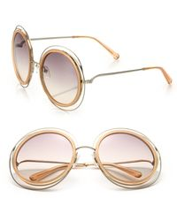 Chloé   Carlina 58mm Round Sunglasses   Lyst
