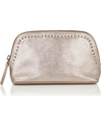 Warehouse - Leather Make-up Bag - Lyst