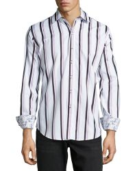 Robert Graham Kaleb Classic Striped Sport Shirt - Lyst
