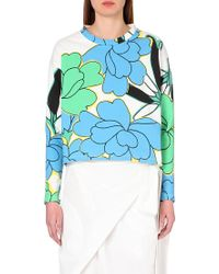 Marni Floral-Print Cotton-Jersey Top - For Women - Lyst