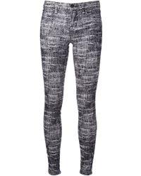 J Brand Flocked Skinny Trousers - Lyst