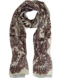 Valentino | Flower Light Lace Print Silk Stole | Lyst