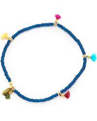 Shashi - 'lilu' Stretch Bead Bracelet - Cobalt - Lyst