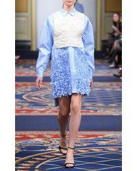 Ruban - Embellished Striped Cotton Shirtdress - Lyst