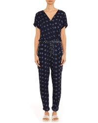 Velvet By Graham & Spencer - Cady Multi-Print Jumpsuit - Lyst