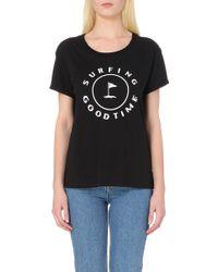 Sandro Motif Cotton-Jersey T-Shirt - Lyst
