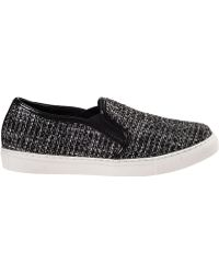 J/slides Sammi Slip-On Sneakers Black/White Fabric - Lyst