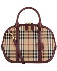 Burberry - Small Orchard Horseferry Check Bowling Bag - Lyst