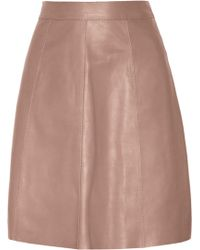 Gucci Leather A-line Skirt - Lyst