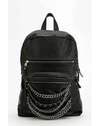 Ash - Domino Chain Leather Backpack - Lyst