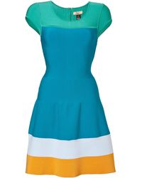 Issa Green Colorblock Dress - Lyst