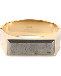 Chloé Bettina Stone Bracelet Silver Grey - Lyst
