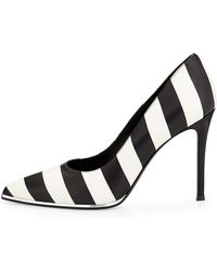Givenchy Striped Leather Pump - Lyst