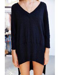 Mouchette - V-Neck High/Low Sweater - Lyst