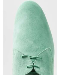 LAC - Mint Green Suede Derby Shoes - Lyst