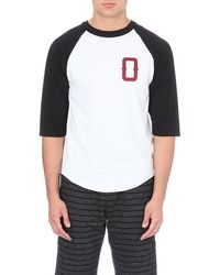 Obey Varsity Cotton Raglan T-shirt - Lyst