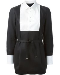 DSquared2 Black Shirt Dress - Lyst