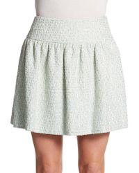 Valentino Tweed Mini Skirt - Lyst