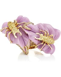 Lydia Courteille - 18k Gold Sweet and Sower Ring with Brown Diamonds and Phosphosiderites - Lyst