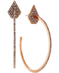Vince Camuto - Pavé Hoop Earrings - Lyst