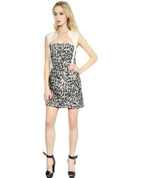 Mugler Leopard Jacquard Silk Canvas Dress - Lyst