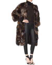 Tamara Mellon Mixed Fox Fur Coat - Lyst