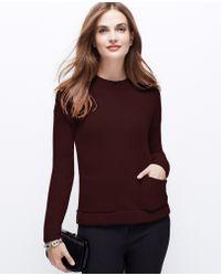 Ann Taylor Cozy Pocket Sweater - Lyst