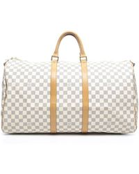 Louis Vuitton Pre-owned Damier Azur Keepall 55 Bag - Lyst
