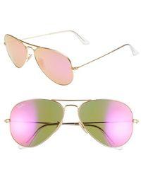 Ray-Ban Women'S 'Original Aviator' 58Mm Sunglasses - Fuchsia/ Mirror - Lyst