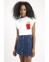 Topshop Fries Before Guys Pocket Tee By Tee And Cake white - Lyst
