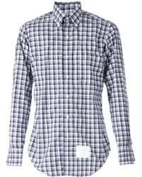 Thom Browne Check Print Shirt - Lyst