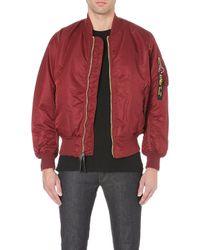 Alpha Dr Martens Bomber Jacket Red - Lyst