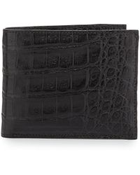 Santiago Gonzalez Crocodile Bifold Wallet - Lyst