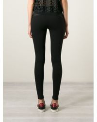 DKNY Mesh Panel Leggings - Lyst