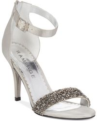 Rampage Forzmin Two-Piece Dress Sandals silver - Lyst