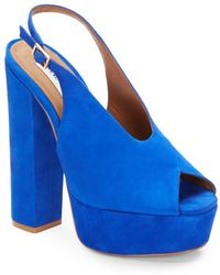 Steve Madden Clayy Suede Slingback Pumps - Lyst