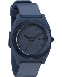 Nixon Ano Time Teller P Steel Blue Watch - Lyst