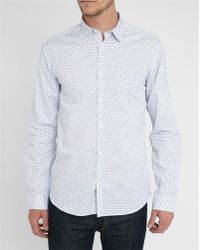 Selected White Long-Sleeve Graphics Shirt - Lyst
