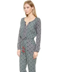 Tigerlily Grimaud Paisley Jumpsuit Emerald - Lyst